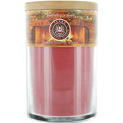 Holiday Cheer By Holiday Cheer Soy Candle 12 Oz Tumbler. A Festive Blend Of Spruce, Clove, Orange & Peppermint. Burns Approx. 30+ Hours