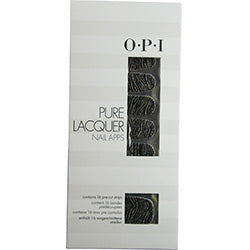 Opi By Opi Pure Lacquer Nail Apps--Metallic Waves--16 Pre-Cut Strips