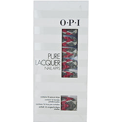 Opi By Opi Pure Lacquer Nail Apps--Pink/Silver Lace--16 Pre-Cut Strips