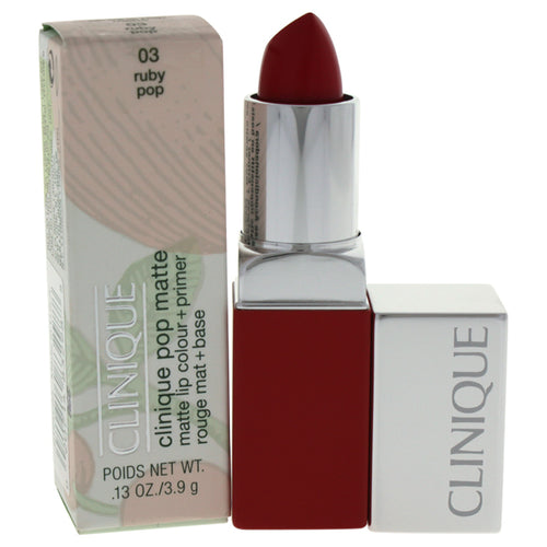 Clinique Pop Matte Lip Colour + Primer - # 03 Ruby Pop 0.13 oz Lip Stick