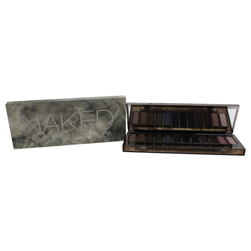 Naked Smoky Eyeshadow Palette 1 Palette 12 x 0.05oz High, Dirtysweet, Radar, Armor, Slanted, Dagger, Black Market, Smolder, Password, Whiskey, Combust, Thirteen & Tapered Crease Brush