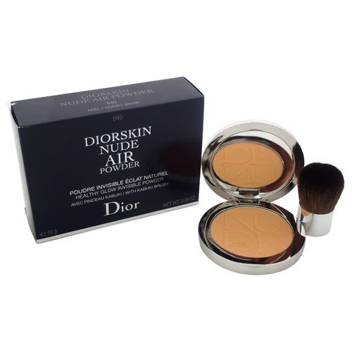 Diorskin Nude Air Powder With Kabuki Brush - # 040 Honey Beige