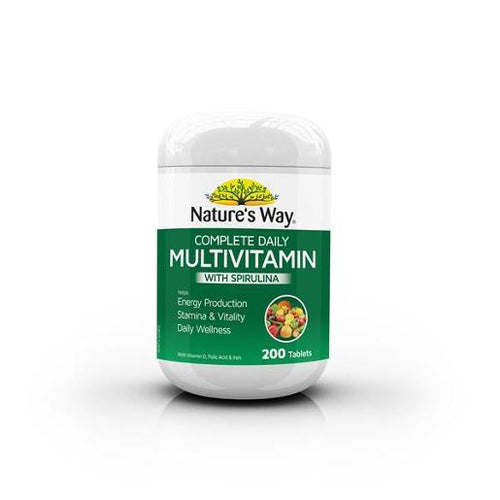 Complete Daily Multi Vitamin 200's with Spirulina