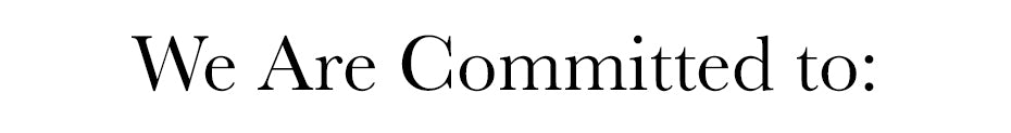 We Are Committed to