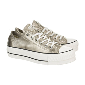 Converse Chuck Taylor All Star Lift Metallic Leather Low Top 562776C