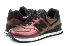 Load image into Gallery viewer, Womens New Balance 574 Dark Sheen Black WL574KSB