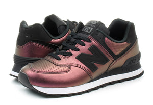 Womens New Balance 574 Dark Sheen Black WL574KSB