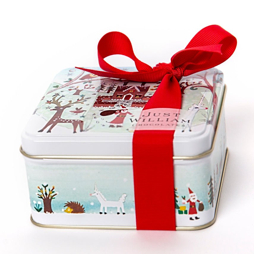 Square Christmas Tin