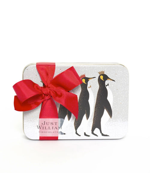 Christmas Penguins Tin