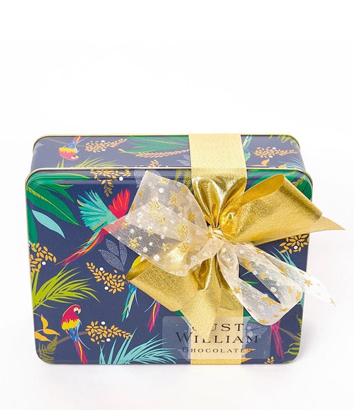 Christmas Tropical Bird Tin