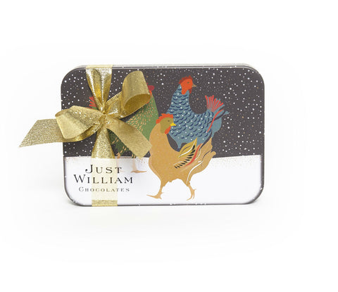 Green Bird Square Tin