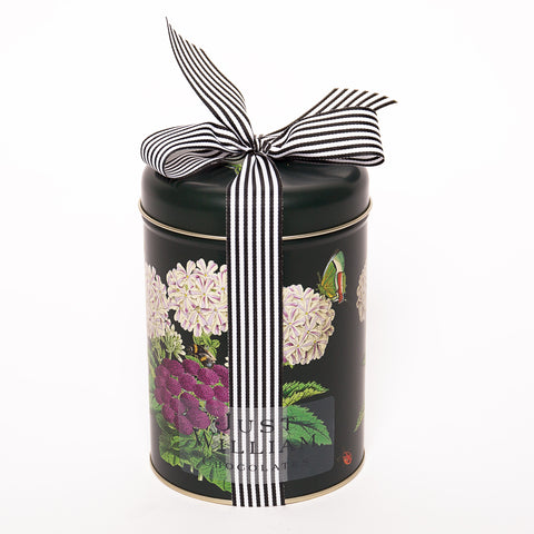 White Flower Garden Tin