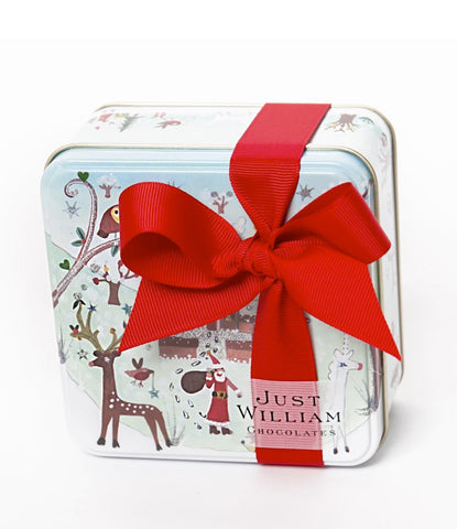 Christmas Red Robin Small Tin