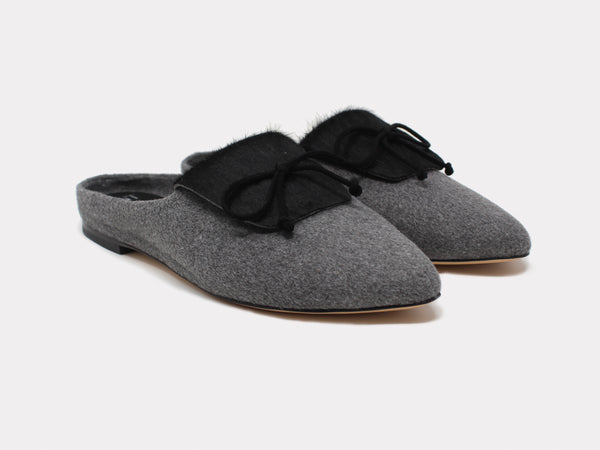 Cortina Mules Black