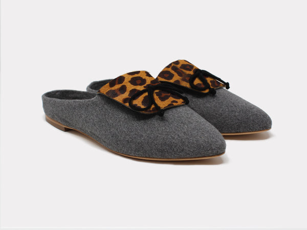 Cortina Slippers Brown Leopard