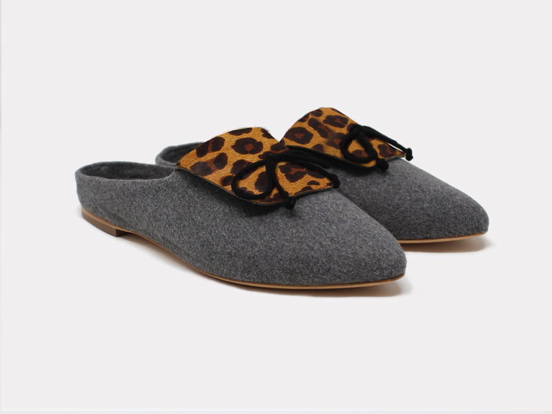 Cortina Mules Brown Leopard