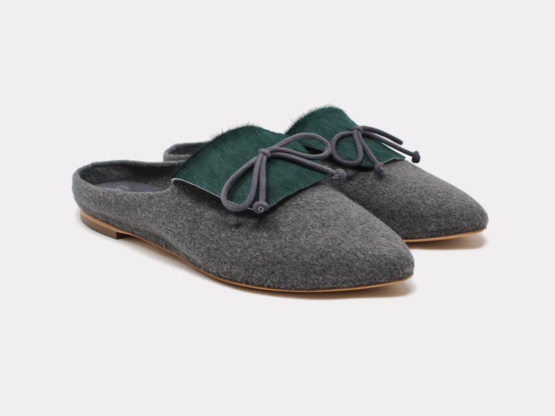 Cortina Mules Forest Green