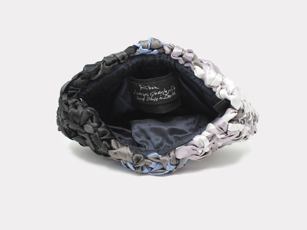 Lorenza Gandaglia Ribbon Clutch Grey