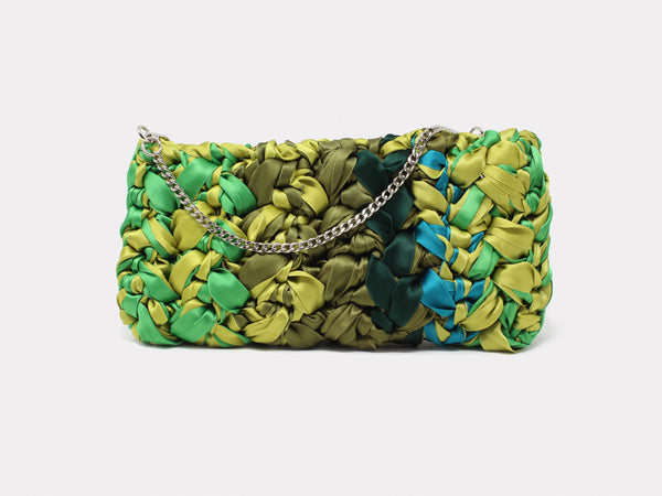Lorenza Gandaglia Ribbon Clutch Green