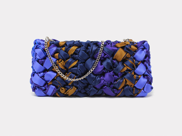 Lorenza Gandaglia Ribbon Clutch Purple