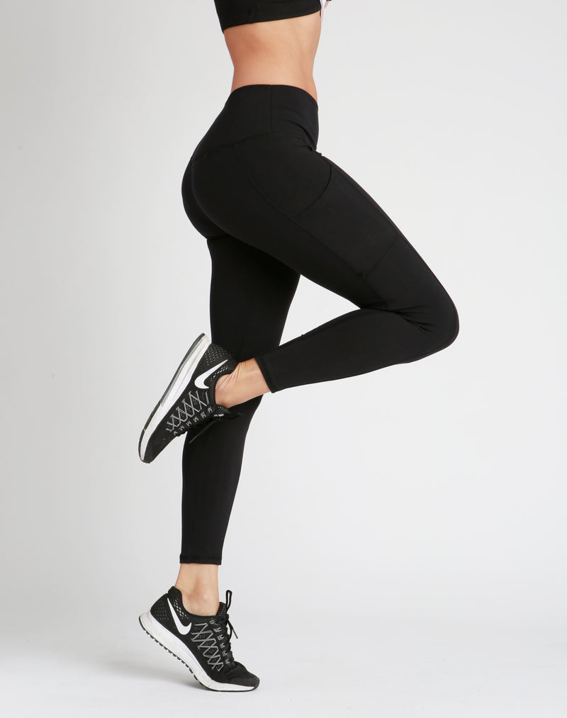 High-Waisted Black Eden Leggings