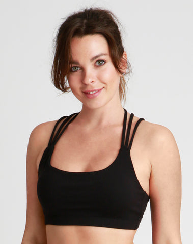 Black Caged Sports Bra