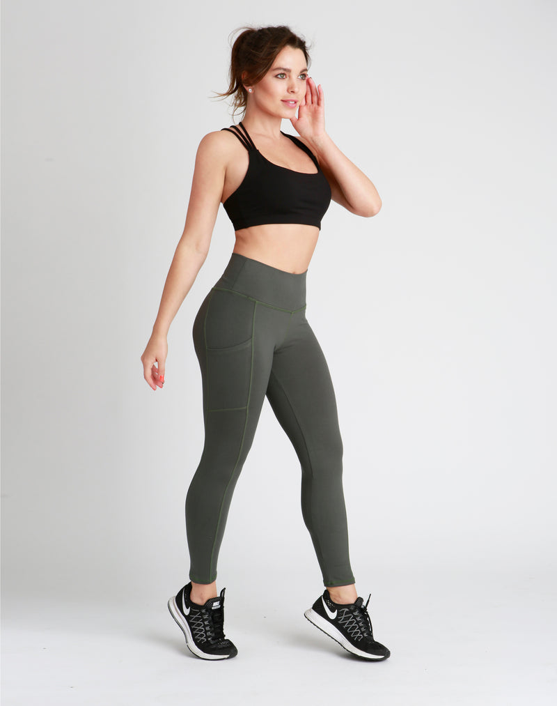 High-Waisted Jungle Green Eden Leggings