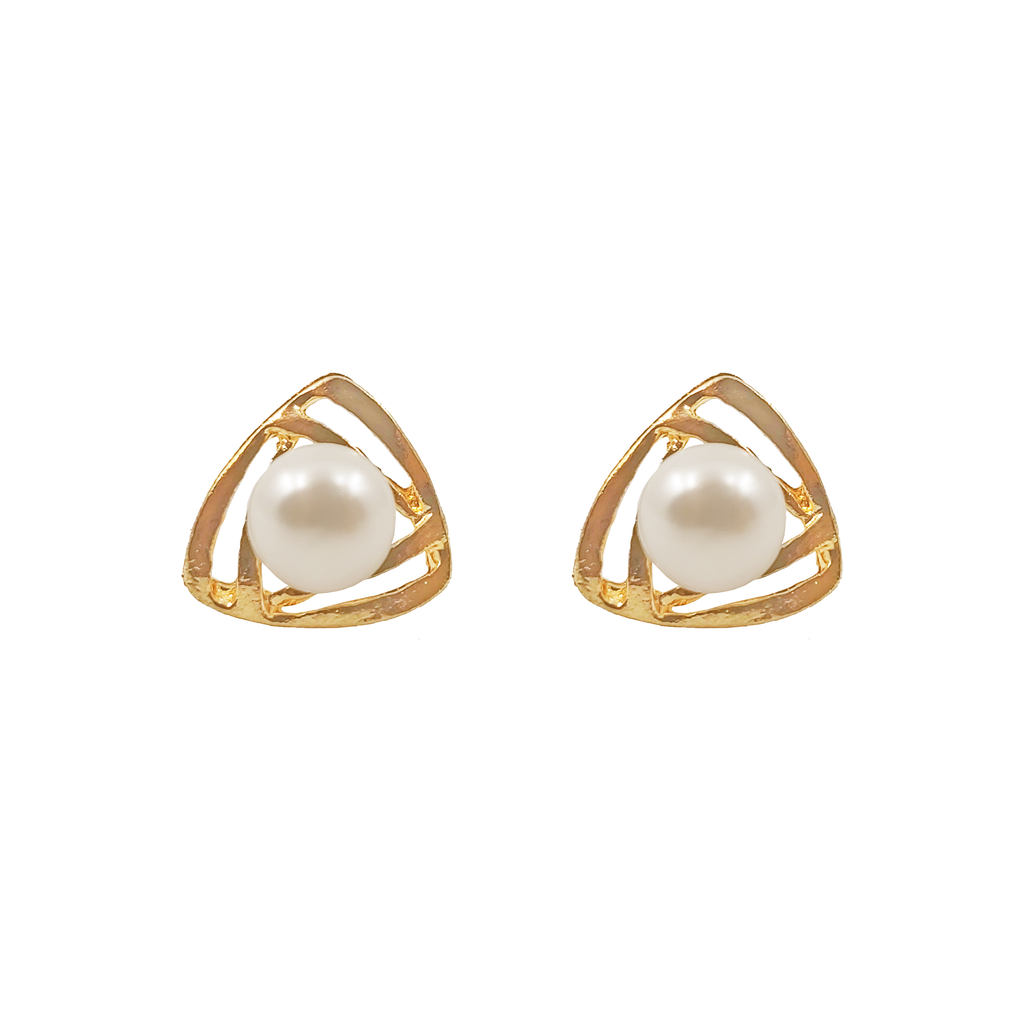 UrbnStyl Pearl in a Triangle Earring Design 2 - For ₹0 Offer at Checkout