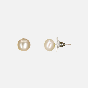 UrbnStyl Natural Pearl Stud - Rosegold Medium