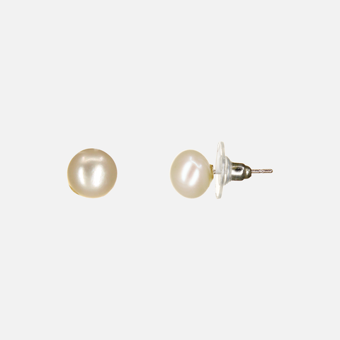 Image of UrbnStyl Natural Pearl Stud - Rosegold Medium