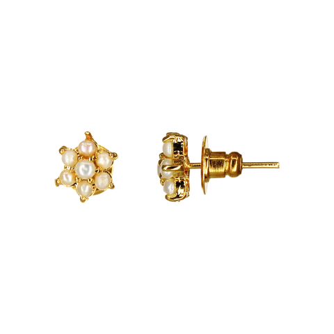 Image of UrbnStyl Pearl Star Design Earring