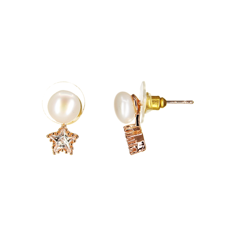Image of UrbnStyl Pearl AD Star Earring