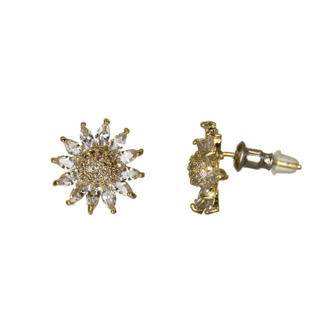 Image of UrbnStyl AD Lotus Earring Design - Gold