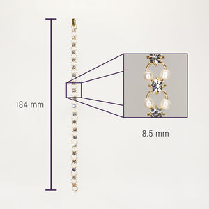 UrbnStyl Unique Pearl Bracelet - Gold