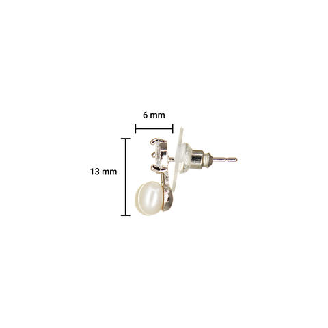 Image of UrbnStyl Pearl Berries Design Earring