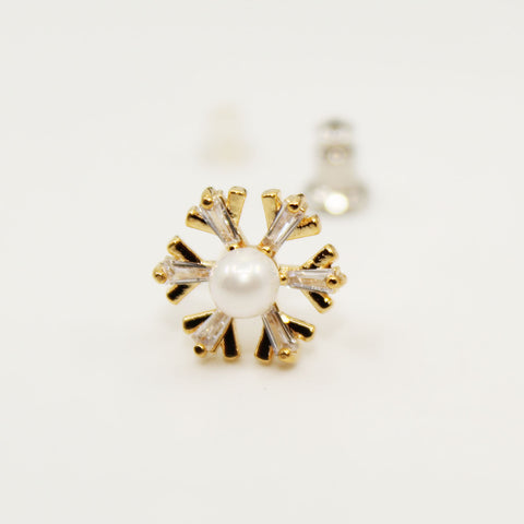 Image of UrbnStyl Snowflake with a Pearl