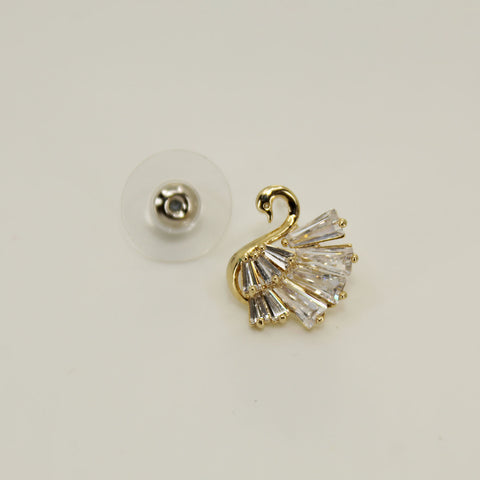 Image of UrbnStyl Swan Design Earring - Gold