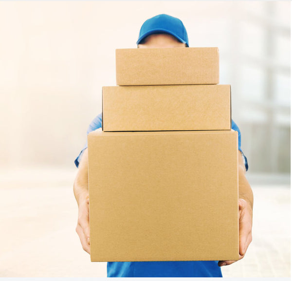 Parcels piled high for delivery
