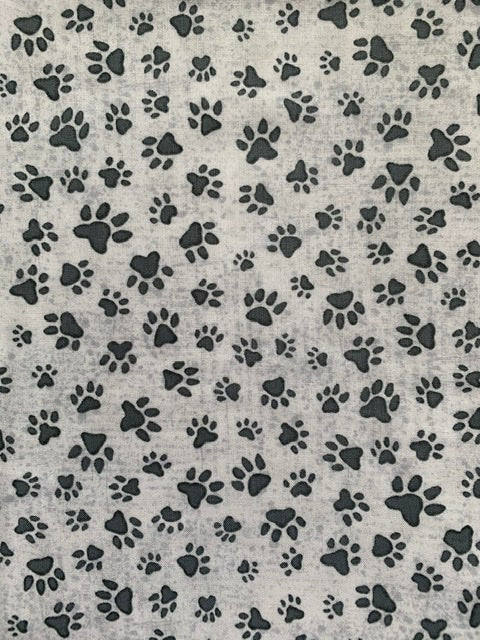 Grey marbled paw print cotton poplin triple layer face mask. Handmade and washable. Made in the U.K.