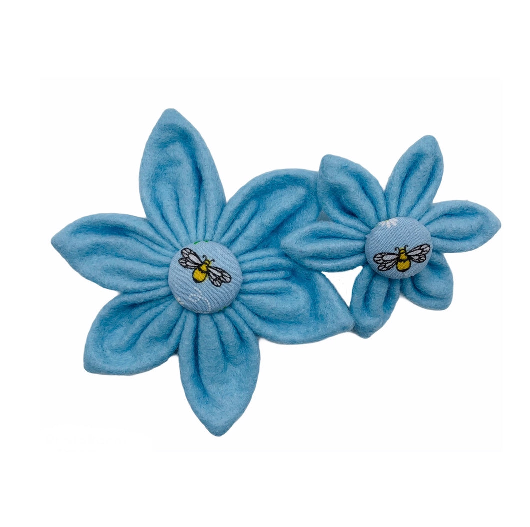 Busy Bee dog collar flowers