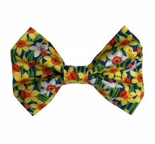 Hand made Daffodil Dog Bow tie. Cute for Easter and Spring Days. Handmade and washable