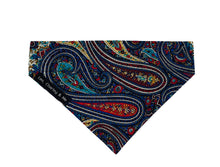 Handmade Paisley print poplin dog bandana  made in the UK  and washable.