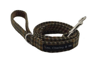 Tweed Check Dog Lead