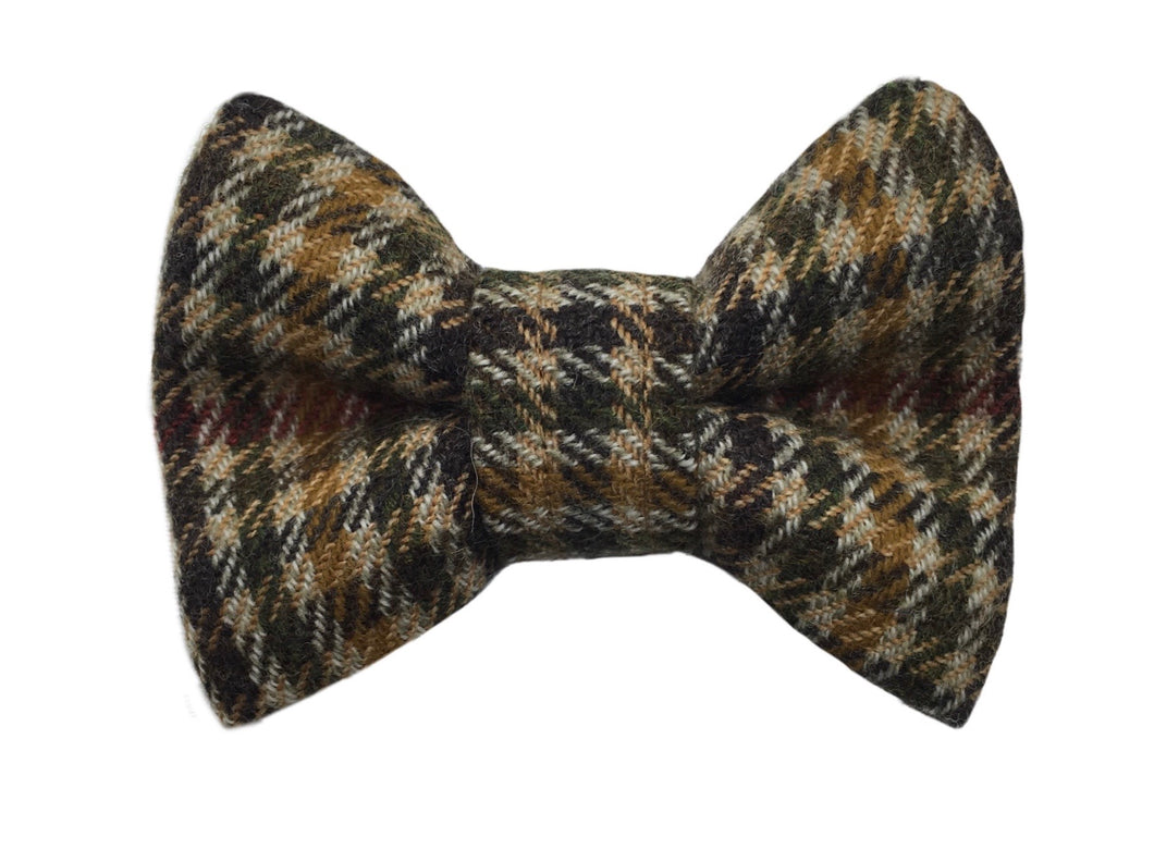 Tweed Check bow tie for dogs
