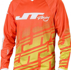 Flex Echo Jersey Orange/Neon/White Riding Jersey Trusport M