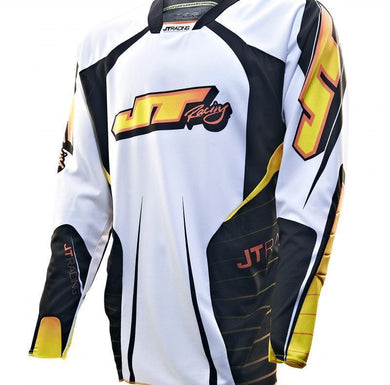 Protek Race Jersey White-Black Riding Jersey Trusport M