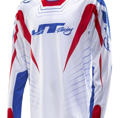 Hyperlite Razor Jersey Red-White-Blue Riding Jersey Trusport S