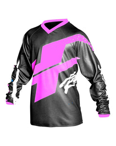 Youth Flex Hi-Flo Black/Pink Jersey Youth Riding Jersey Trusport M