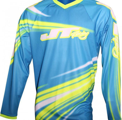 Flex Flow Jersey Cyan/Yellow Riding Jersey Trusport M