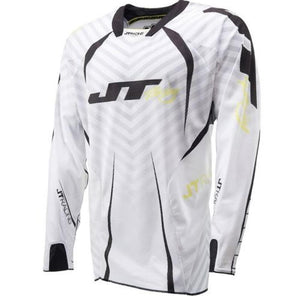 Protek Fader Jersey White-Black-Yellow Riding Jersey Trusport S